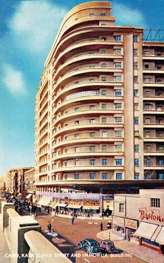Immobilia Building in Kasr El Nile Street, Cairo, Egypt, 1939.