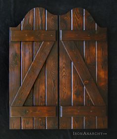 Handcrafted Custom Swinging Saloon Doors Hereu0027s a recently completed pair of saloon doors commissioned by a brewery client in the San F.. & Western Saloon doors | Do It Yourself Home Projects from Ana White ...