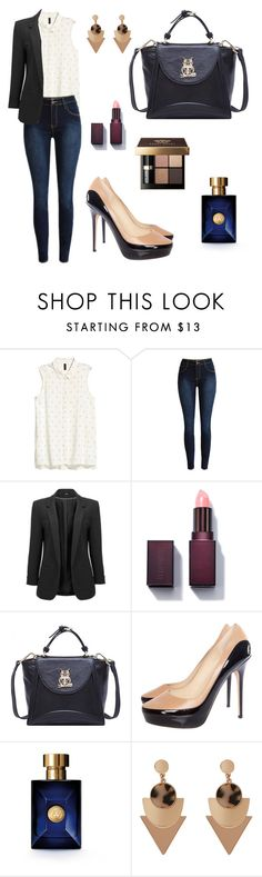 """""""Untitled #456"""" by mariafilomena471 ❤ liked on Polyvore featuring Jimmy Choo, Versace and Bobbi Brown Cosmetics"""