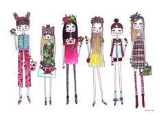 Girls wall art Girls Room Art girls art print by diarysketches, $15.00