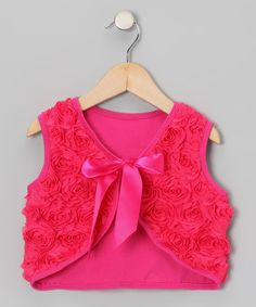 Take a look at this Hot Pink Rosette Vest - Toddler & Girls on zulily today!