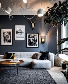 Inspiring Living Room by - Architecture and Home Decor - Bedroom - Bathroom - Kitchen And Living Room Interior Design Decorating Ideas - Living Room Grey, Living Room Interior, Home Living Room, Living Room Designs, Living Room Decor, Living Room Ideas Black And White, Living Room Walls, Living Room Inspiration, Cool Living Room Ideas