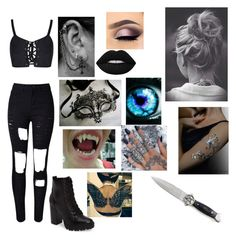 """""""Dark Illusion (Outfit: #1)"""" by ada101 on Polyvore featuring WithChic, Steve Madden, Masquerade, KAOS and GET LOST"""