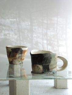 Ricca OKANO Tea Bowls, Potted Plants, Projects To Try, Pottery, Clay, Sculpture, Contemporary, Mugs, Teapots
