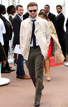 ALLSAINTS   Spotted. Justin Timberlake wearing our Spring 2013 'Manor Tie' at Cannes Film Festival