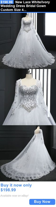 Wedding Dresses: New Lace White/Ivory Wedding Dress Bridal Gown Custom Size 4 6 8 10 12 14 16 18+ BUY IT NOW ONLY: $198.99