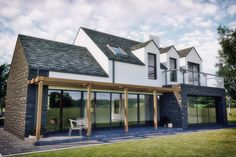 Highlights Bespoke Home Design & Commercial Projects - McAleenan NI Outdoor Kitchen Introduction Art House Designs Ireland, Dormer Bungalow, Bespoke, Design Commercial, Modern Farmhouse Exterior, Farmhouse Remodel, Courtyard House, House Blueprints, Cottage Design