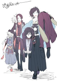 Dhp9pUqVQAAfg1o Mutsunokami Yoshiyuki, Yuri, Gekkan Shoujo Nozaki Kun, Rurouni Kenshin, Slayer Anime, Cute Comics, Manga, Touken Ranbu, Cute Boys