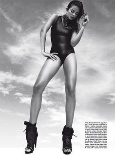Beauty: Eniko Mihalik by Greg Kadel for Vogue Italia December 2010
