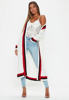 88ca31cad02 Cream Stripe Detail Cricket Knitted Cardigan