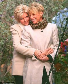 The look of love: Family Ties star Meredith Baxter was the picture of happiness as she wed her longtime love Nancy Locke in an intimate ceremony recently. #sapphicscribes