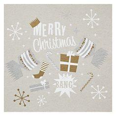Buy Velvet Olive Merry Christmas Cracker Card Online at johnlewis.com