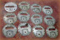 1 Vintage Gas Meter Dial by CaityAshBadashery on Etsy