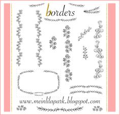 Free digital ornament border scrapbooking embellishment - Zierränder - freebie - MeinLilaPark