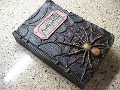 "9 5"" RAZ Arachnophobia Spider Halloween Prop Witches Spell Book Decoration | eBay"