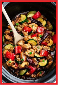 Skinny Slow Cooker Kung Pao Chicken - Slow Cooker - Ideas of Slow Cooker - Skinny Slow Cooker Kung Pao Chicken Recipes slow cooker हमारे ब्लॉग का उपयोग अधिक जानकारी Healthy Slow Cooker, Healthy Crockpot Recipes, Slow Cooker Chicken, Slow Carb Recipes, Crockpot Meals, Vegan Recipes, Gazpacho, Chinese Beef Recipes, Chinese Food