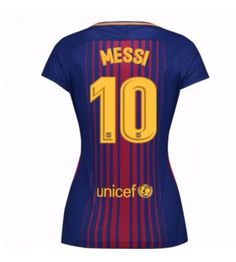 Barcelona Lionel Messi 10 Hemmatröja Dam 17-18 Kortärmad