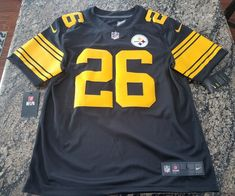 af051ebb24e Details about NFL PITTSBURGH STEELERS COLOR RUSH STITCHED JERSEY 819066-011 Le Veon  Bell Sz L