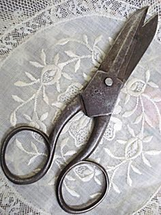 antique diamond scissors