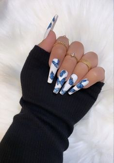 Acrylic Nails Coffin Ombre, Square Acrylic Nails, Summer Acrylic Nails, Best Acrylic Nails, Acrylic Nail Designs, Summer Nails, Clear Acrylic, Dope Nails, Swag Nails