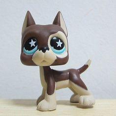LPS Littlest Pet Shop Custom OOAK Dachshund dog star eyes Hand Painted Figure