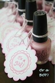 Amenities - Pink nail polish is a great party favor for the ladies.