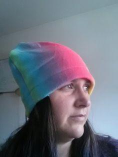Cat hat, pussy hat, beanie, women's march hat, polar fleece, rainbow, feminism,  girl power, LGBTQ by SlickeryKnits on Etsy