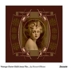Vintage Christ Child Jesus The Light of the World Poster