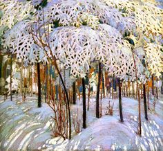 Snow in October Tom Thomson - 1916-1917