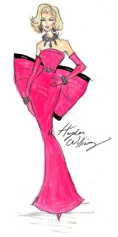 Marilyn Monroe by Hayden Williams marilyn monroe, happy birthdays, fashion art, cartoon drawings, happi birthday, fashion designers, hayden william, fashion illustrations, fashion sketch