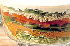 Layered Asian Coleslaw