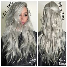 """the ICE QUEEN"" @l0velynna @pravana #silverhair #grannyhair"
