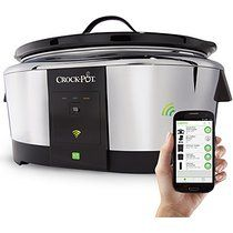 Crock-Pot 6-Quart Wemo Smart Wifi-Enabled Slow Cooker, Stainless Steel, SCCPWM600-V2