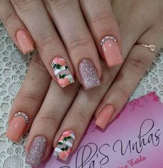 Gel toe nails summer flower designs 63 New ideas Cute Nail Art, Cute Nails, Pretty Nails, Gel Toe Nails, Nail Nail, Hair And Nails, My Nails, Jolie Nail Art, Summer Toe Nails