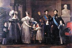 1837: The Swedish royal family, including King Carl XIV Johan, Queen Desideria, Crown Prince Oscar, Crown Princess Josefina, and their five children, Prince Carl, Prince Gustaf, Prince Oscar, Princess Eugenie, and Prince August, is painted by Fredric Westin. In the portrait, Josefina wears her grandmother's cameo tiara.Tiara Timeline: The Cameo Tiara | The Court Jeweller
