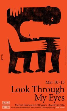 David Plunkert, theatre poster for Look Through My Eyes