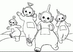 Dancing Teletubbies Coloring Pages
