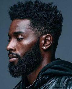 grown beard Black Haircut Styles, Black Men Haircuts, Black Men Hairstyles, Cool Hairstyles, Curly Haircuts, Fashion Hairstyles, Hairstyles Haircuts, Medium Hair Styles, Curly Hair Styles