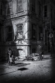 Black and White, photograph, Istanbul, Turkey, urbex, abandoned, worn out, buidings, old buildings, Sultanahmet, art print,