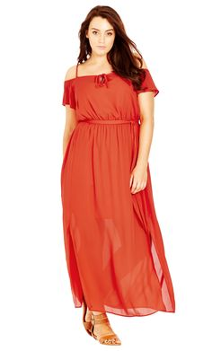 Floaty maxi dress plus size