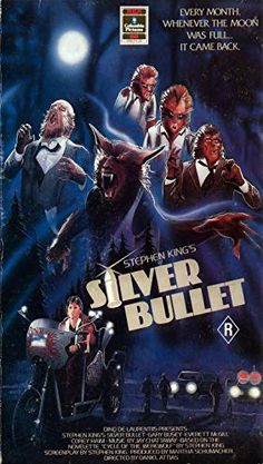 Silver Bullet poster art - cool find on tumbler Horror Movie Posters, Horror Films, Horror Art, Scary Movies, Old Movies, Fritz Lang, Classic Horror Movies, Classic Films, Movie Covers
