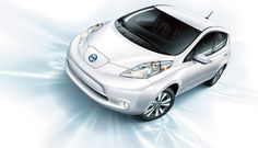 Nissan LEAF in Pearl White.