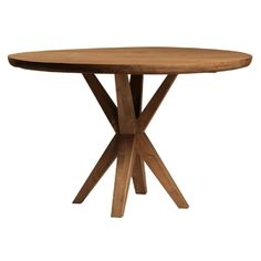 48 inch French Rustic Dining Table With Reclaimed Blond White Elm Top in Sealed Finish and Distressed Top Large Furniture, Handmade Furniture, Shabby Chic Furniture, Upscale Furniture, Kitchen Furniture, Furniture Ideas, Discount Office Furniture, Dovetail Furniture, Round Pedestal Dining Table