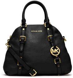 Black Michael by Michael Kors Handbag - Wantering Michael Kors Handbags Sale 532df35fdca25