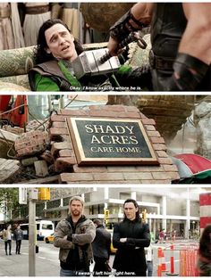 Thor and Loki being funny