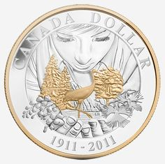 CANADA 2014 Baby Gift Set Stork Loonie Special Edition Dollar