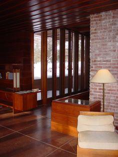 Frank Lloyd Wright, 1940 Gregor Affleck House: Bloomfield Hills, Michigan