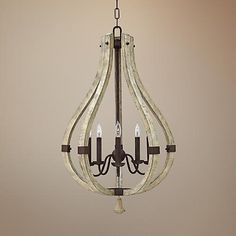 This gourd-shape 5-light chandelier is a versatile home lighting accent.