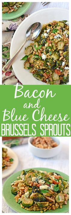 Warm Brussels Sprouts Salad with Bacon, Walnuts, and Blue Cheese