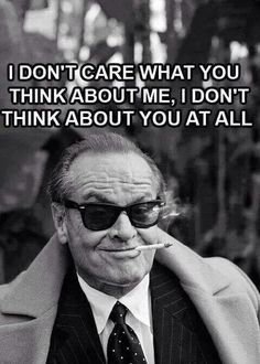 Nope.....I do care about a very few....